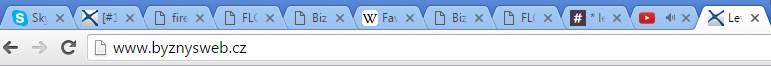 webové stránky s faviconem