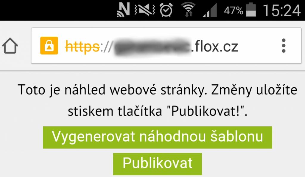 automatické generování mobilní šablony web stránky, eshopu