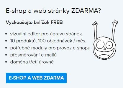 webové stránky zdarma, e-shop zdarma