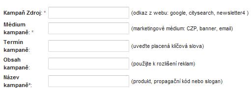 URL biulder, sledování reklamních kampaní