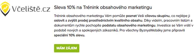 10% sleva na trénink obsahového marketingu