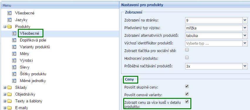 množstevní sleva ve flox 2.0, sleva na produkt