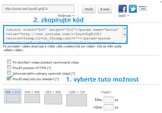video na web, vkládání videa na web, jak vložit video na www stránky