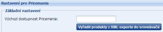 vyřazení produktů z xml feedu